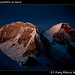 Huascaran's twin summits at dawn