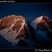 Huascaran's twin summits at dawn