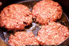 lamburgers in the pan