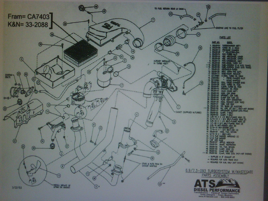Turbo Kit Parts  Diagram