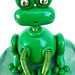 Robot Frog on Lily Pad Mini Sculpture