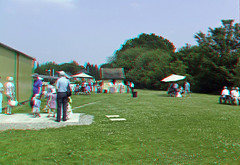 3D stereo anaglyph The Bluebell Railway Kingscote Picnic area