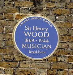Photo of Henry Wood blue plaque