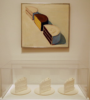 Wayne Thiebaud, Half Cakes, 1964; Claes Oldenburg, Wedding Souvenir, 1966
