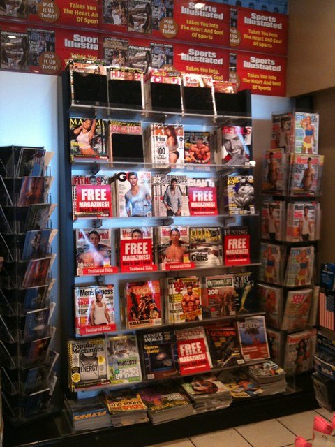 Why do they always sell porn at airport magazine stands?