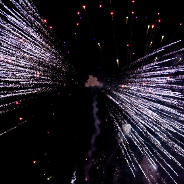 Fireworks from below