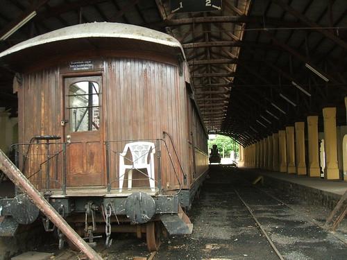 Vintage train in Asunción, Paraguay