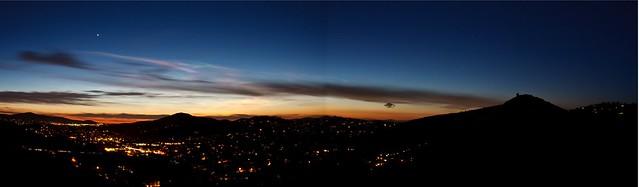 panorama sunset over Poway