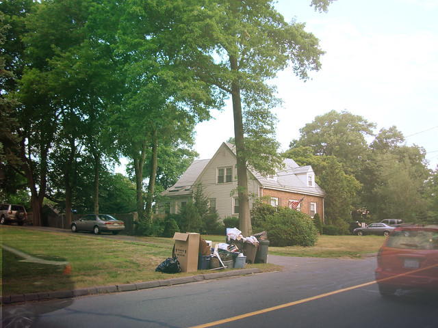 Trash Day on Parker Rd; Wakefield, Massachusetts (2010)