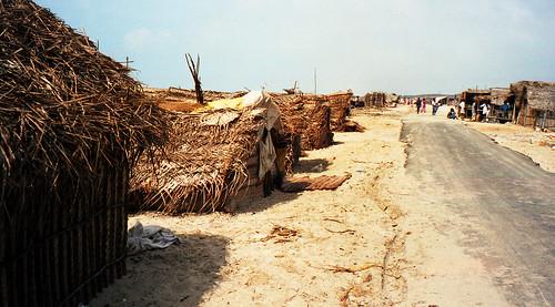 Dhanushkodi village huts