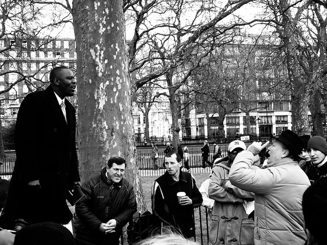 Speakers' Corner (CC BY-NC olivcris via Flickr)
