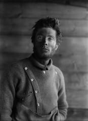 Portrait of B. Day, on return from the barrier, Scott Expedition, Antarctica by Herbert George Ponting 1911
