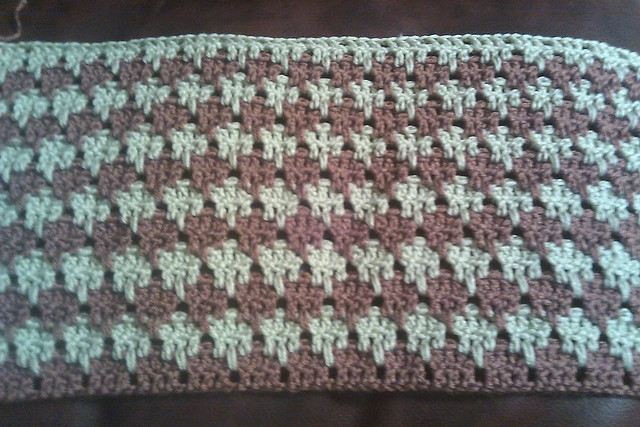Larksfoot Crochet Baby Blanket Pattern : WIP Larksfoot Baby Blanket Flickr - Photo Sharing!