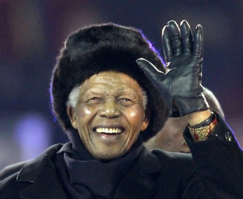 Former President Nelson Mandela at the 2010 World Cup in the Republic of South Africa. He will celebrate his 92nd birthday on Sunday, July 18, 2010. He led the African masses to national liberation in 1994. by Pan-African News Wire File Photos