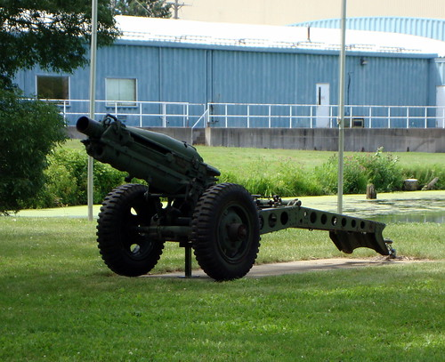 Military Cannon In Owen, Wisconsin