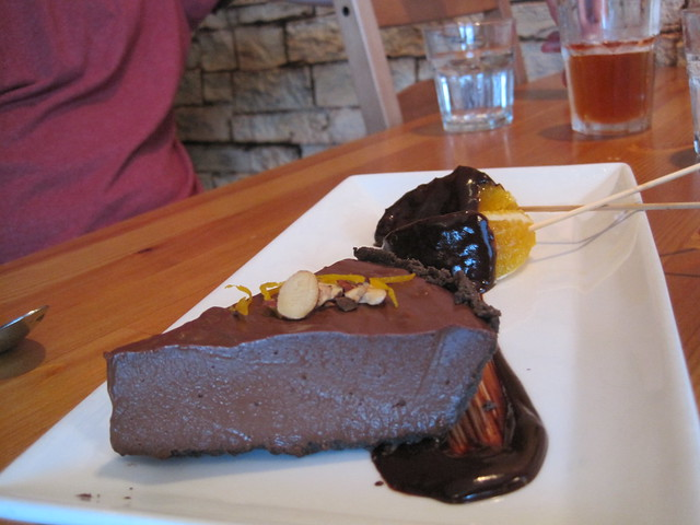 Green Elephant: chocolate-orange cheesecake