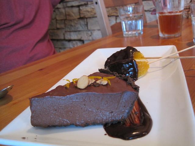 Green Elephant: chocolate-orange cheesecake