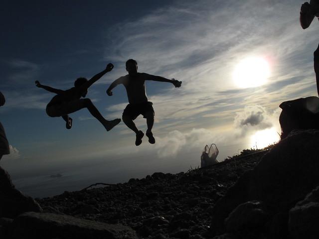 Top of the Mount Tenjo, Kozushima, Japan