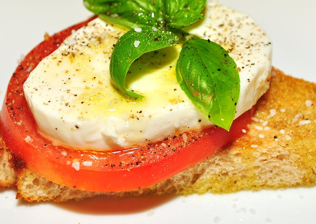 Mmm...fresh mozz on a tomato basil sammich