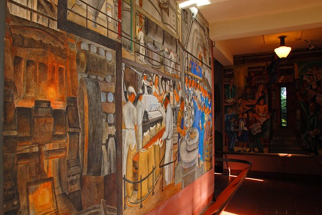 Diego rivera mural coit tower flickr photo sharing for Coit tower mural