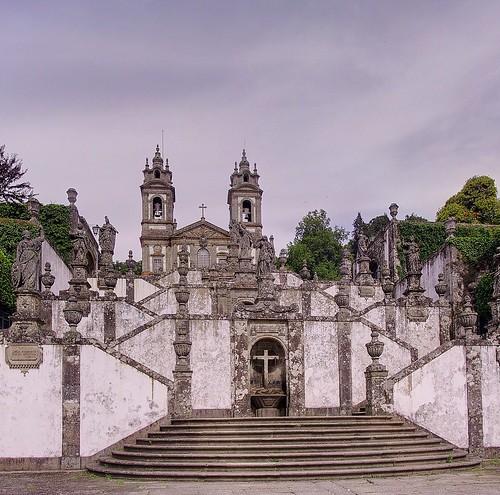 portugal church stairs canon geotagged powershot g1 hdr braga prt canonpowershotg1 powershotg1 ptgui 3exp senhoradarocha geo:lon=837822050 geo:lat=4155466003