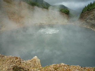 The Boiling Lake - more water and less heat than last time!