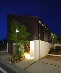 長期優良住宅健康住宅のドクトルハウス『ときわ南モデルハウス』 外観 夜