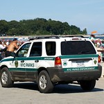 NYC Parks Enforcement Vehicle, Orchard Beach, Bronx, New York City