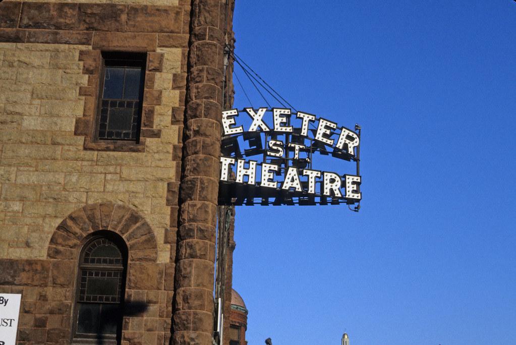 Exeter Street Theatre Sign Boston MA 1984