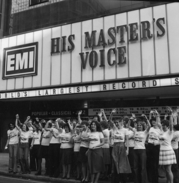 hmv 363 Oxford Street, London - Exterior of store May 1976