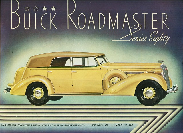 1936 Buick Roadmaster Series Eighty Convertible Phaeton