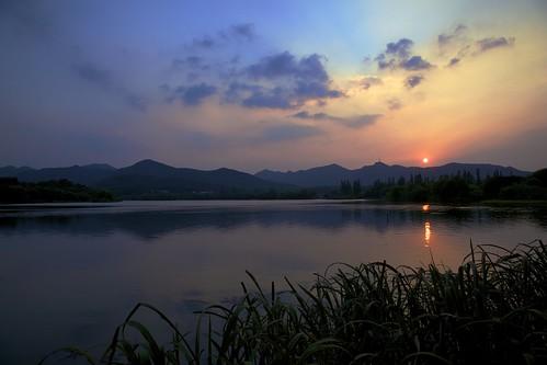 china sunset summer nature water canon mac aperture westlake hangzhou 中国 夏 西湖 日落 杭州 xihu 2010 zhejiang 夏天 浙江 夏日 茅家埠 西子湖 mywinners 5dmarkii gettyimageschinaq1