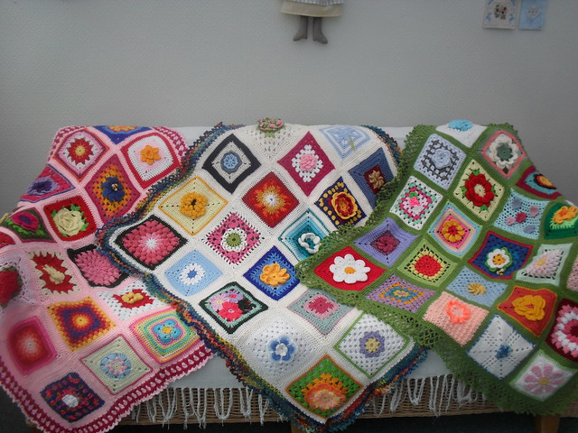 Our first three Flower Blankets - has made Explore! Thanks Kristopher for telling me! x  12th August 381.
