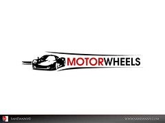 Motor Wheels logo illustration