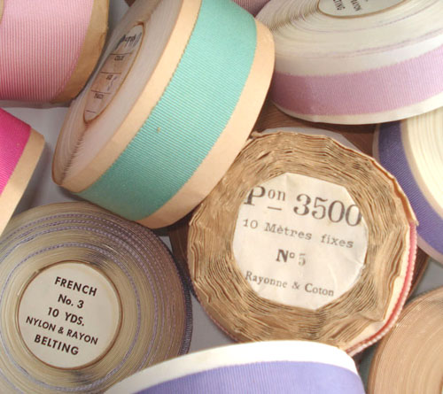 Vintage French Ribbon Rolls