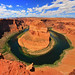 Horseshoe Bend Panorama - worth the risk!
