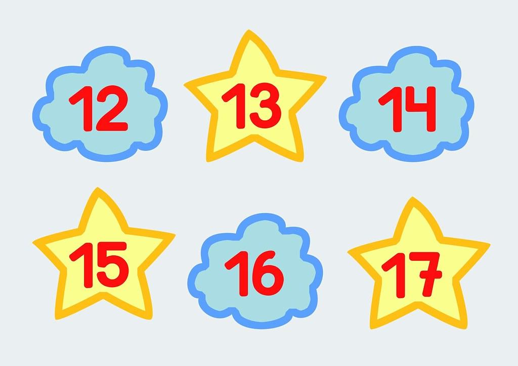 Tarjetas De Calendario Dias 12 13 14 15 16 17 Del Mes Flickr