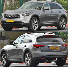 automobile, automotive exterior, sport utility vehicle, wheel, vehicle, automotive design, infiniti qx70, rim, mid-size car, bumper, infiniti, land vehicle, luxury vehicle,