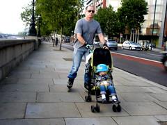 inline skating, footwear, vehicle, road, street, pedestrian,