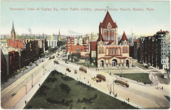 Panoramic View of Copley Sq., from Public Library, Showing Trinity Church, Boston, Mass. [front]