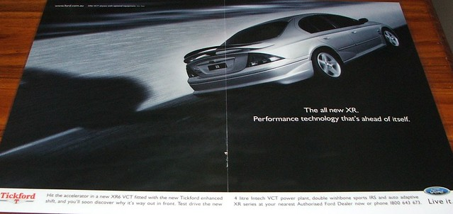 1998 Ford Falcon XR6 VCT - Tickford Ad | Flickr - Photo Sharing!