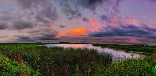sunset panorama lake water minnesota clouds pond pano panoramic rochester hdr rochestermn byronmn hdrpano