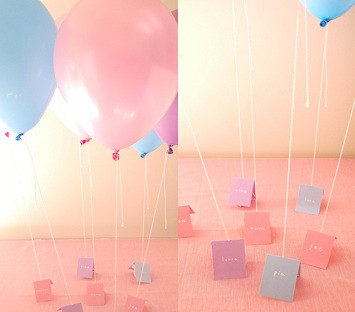 Balloon Escort Cards with Candy-Up Up and Away-Frolic-Camille Styles Events