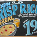 Crisp Rice Cereal Chalkboard Sign
