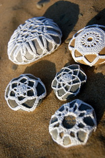 crocheted pebbles
