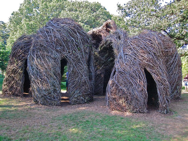 Natural History by Patrick Dougherty. Photo by Rebecca Bullene.