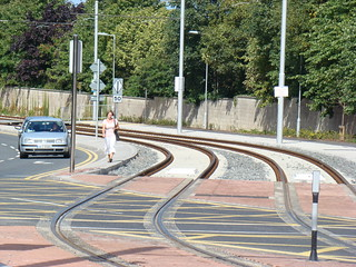 Luas on Blackthorn Avenue, Sandyford Industrial Estate