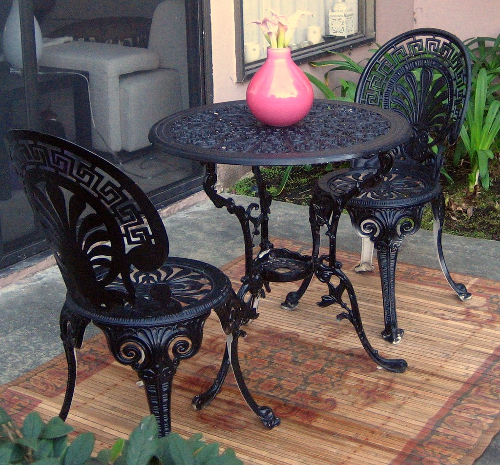 Wrought Iron Bistro Set Table And 2 Chairs For Sale Flickr