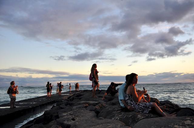 Waikiki Beach, Sunset