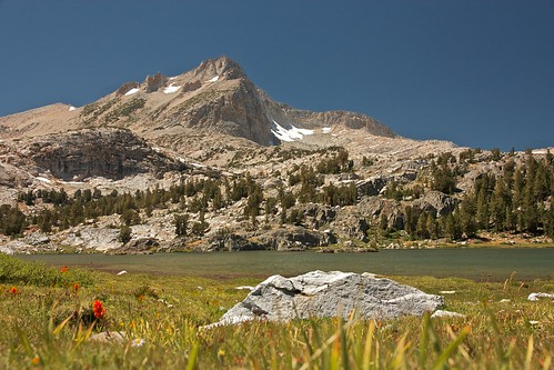 One of the lakes along the 20 Lakes Basin trail, California. Courtesy of Greg Blazer
